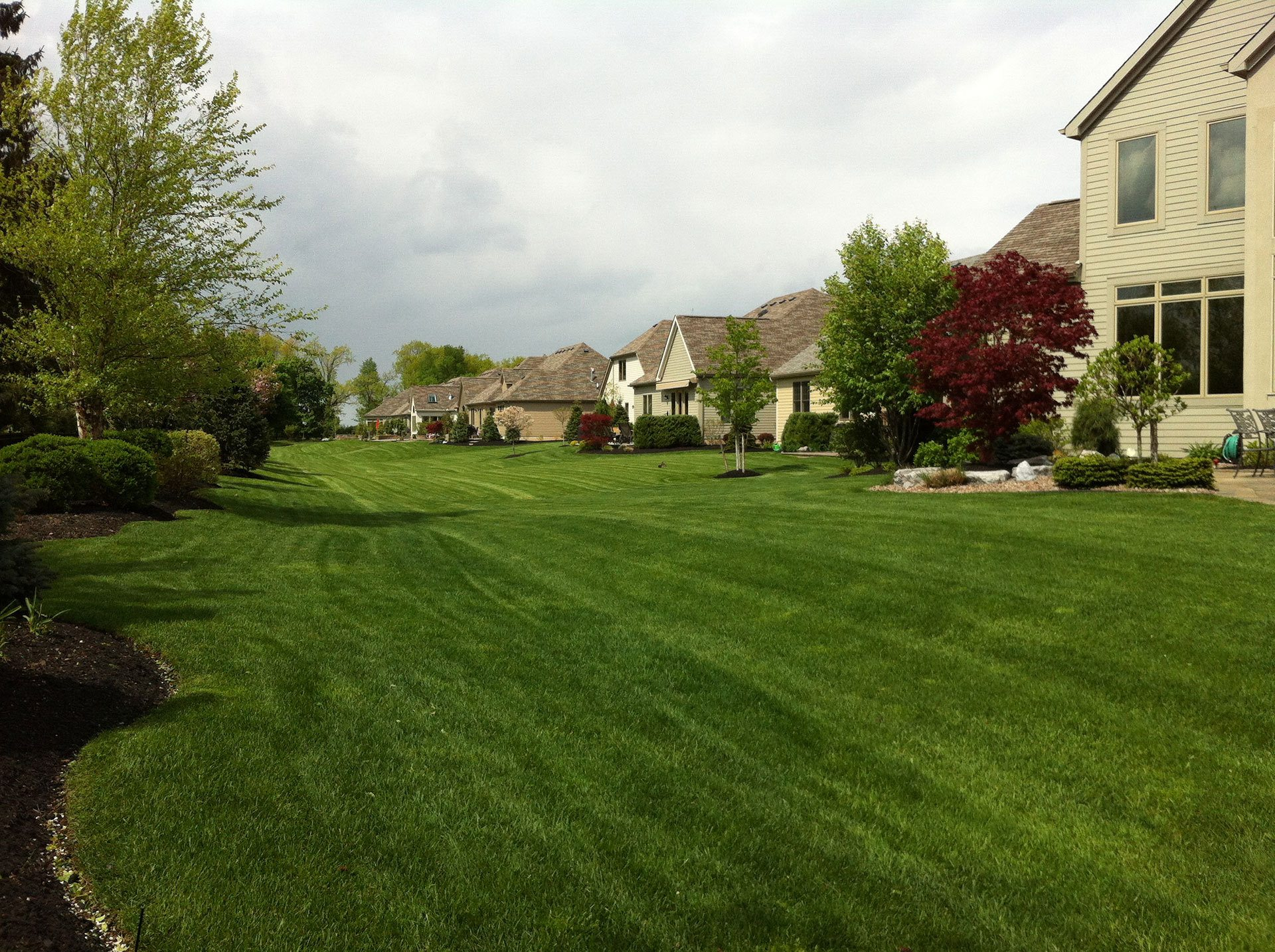 House with a well maintained lawn